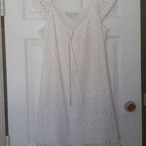 Trina Turk Lace Cap Sleeve Dress